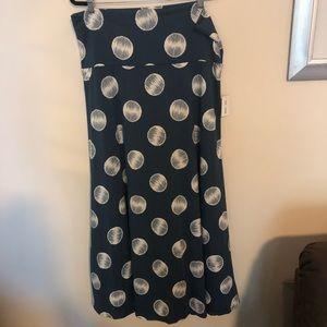 Nwt Lularoe blue plus size comfy maxi skirt